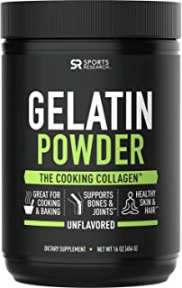 Gelatin Collagen Cooking Powder ~ Sourced from Pasture Raised,Grass-Fed Cows ~ Great for Cooking and Baking~ Certified Keto Friendly and Non-GMO (16oz)