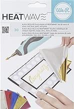 American Crafts 30 Piece We R Memory Keepers Heatwave Pen Foil, 4 x 6, Multicolor