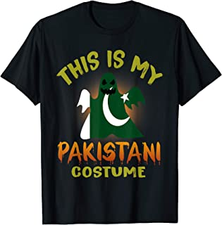 This Is My Pakistani Costume Boo Ghost T-Shirt Pakistan Flag