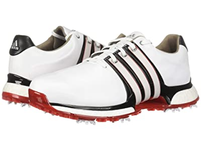 adidas Golf Tour360 XT (Footwear White/Core Black/Scarlet) Men
