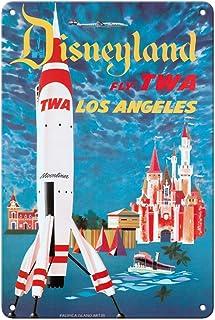 Pacifica Island Art Disneyland - Los Angeles - Fly TWA (Trans World Airlines) - Tomorrowland TWA Moonliner - Vintage Airli...