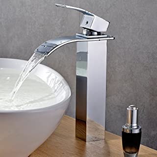 BONADE Grifo mezclador monomando, de cascada, para lavabo (