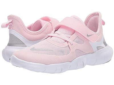 Nike Kids Free RN 5.0 (Little Kid) (Pink Foam/Metallic Silver/Wolf Grey) Girls Shoes