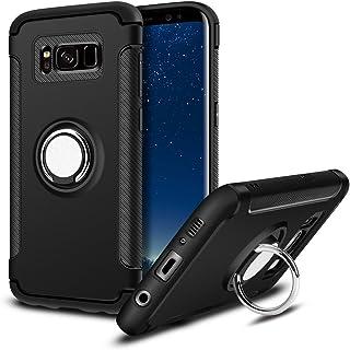 MaiJin Funda para Samsung Galaxy S8 Plus (6,2 Pulgadas) Multifunción Anillo sostenedor movil de 360 Grados con función de Soporte Rugged Armor Cover Case (Negro)