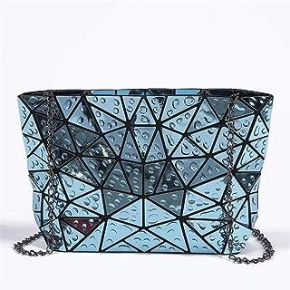Folded Girl H Bags PU Leather Bag Geometric Shoulder Bag Issey Miyak Raindrop Tote Bags