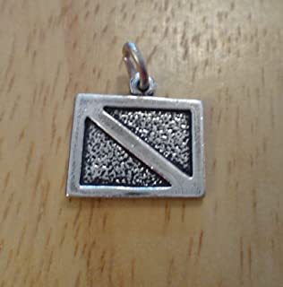 Sterling Silver 12x13mm Scuba Diver Down Dive Signal Flag Diving Charm DIY Crafting by Wholesale Charms