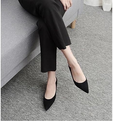DIDIDD Chaussures à à à Talons Hauts Femmes 'S de Travail de Code de Taille Chaussures Femmes Noires Pointues Hauts Talons Femelle Bien avec,Noir,36 b15