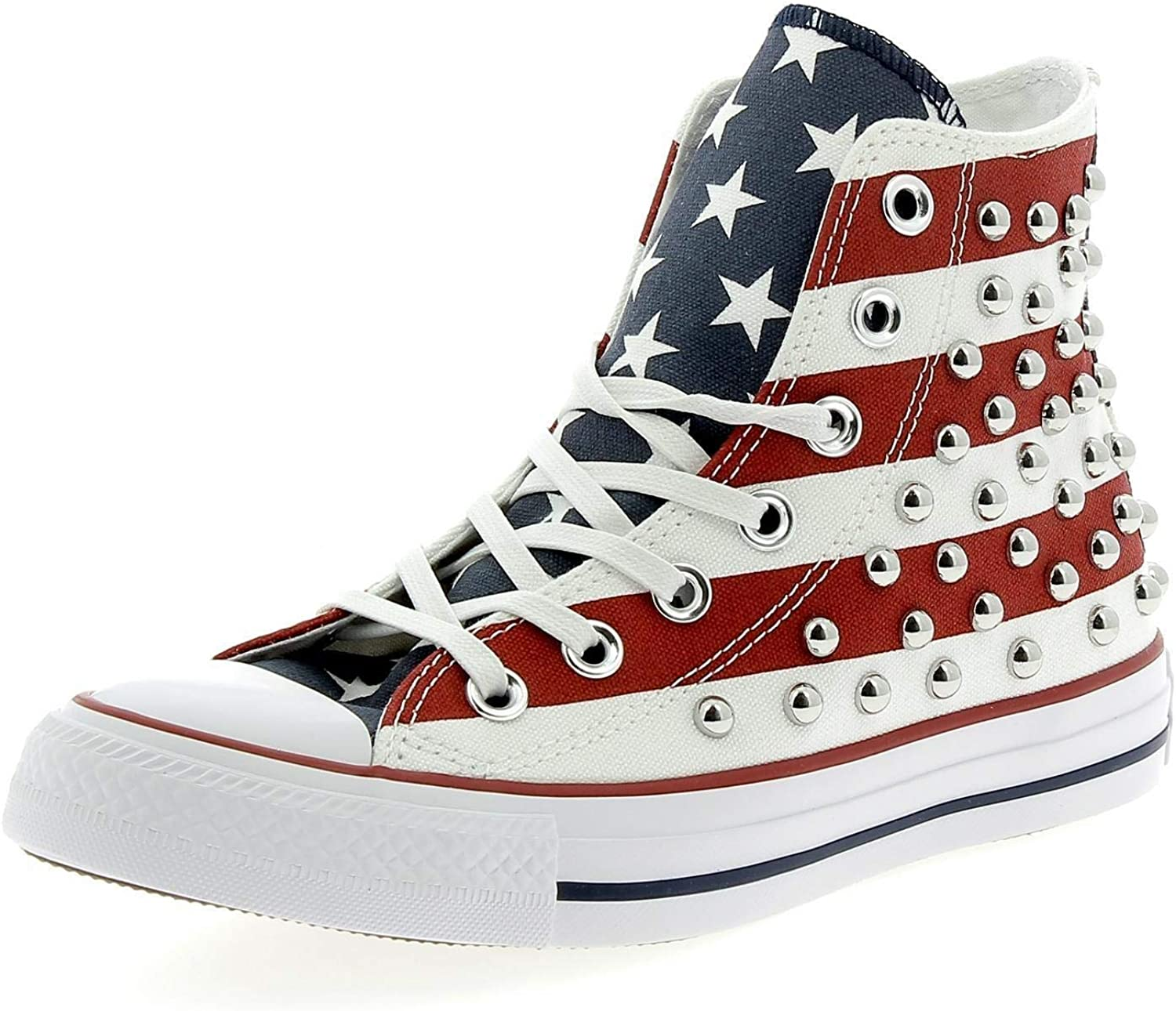 Converse Chuck Taylor All Star Studded Americana High Top Red White bluee 160994C