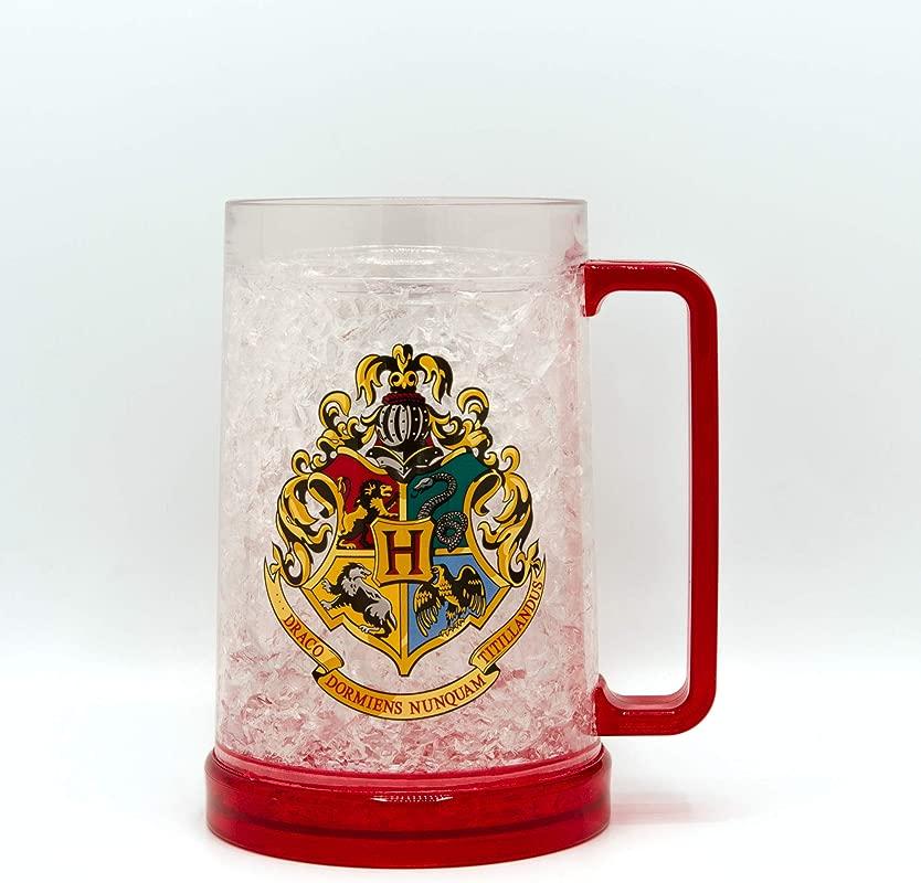 HARRY POTTER Hogwarts Crest Freeze Gel Plastic Stein 16 Ounce Red