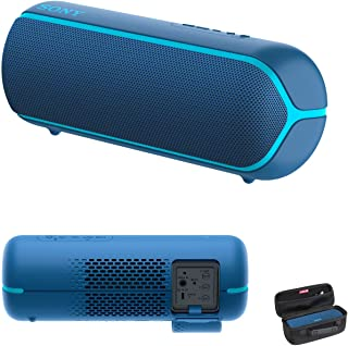 Sony SRS-XB22 Extra Bass Portable Bluetooth Speaker (Blue) with Hardshell Carrying Case Bundle