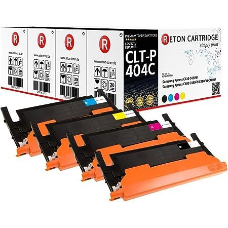 4 Original Reton Toner 50 Höhere Druckleistung Kompatibel Zu Samsung Clt P404c Multipack Für Samsung Xpress C430 C480fn C430w C480fw C480w Bürobedarf Schreibwaren