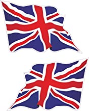Vinyl Stickers 2X Large Wavy Union Jack Flag