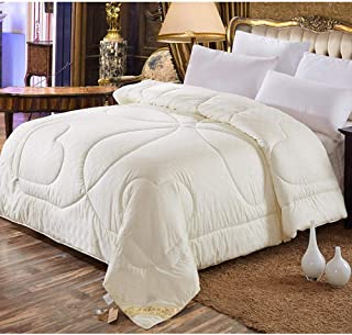 LOSTRYY Warm Cashmere Quilt Quilts Winter Bedroom Quilted duvets Thick Warm Patchwork Soft Blankets Cotton Mulberry Silk@3_180220cm