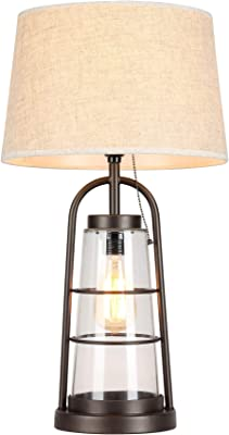 Warehouse of Tiffany HAT1771-2 Arstill 2-Light Antique Bronze (Edison Bulbs Included) Table Lamp, Brown