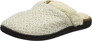 Dearfoams Textured Knit Closed Toe Scuff, Pantofole Donna