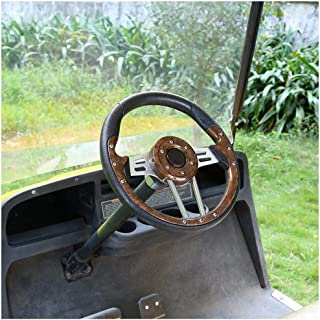 World 9.99 Mall Steering Wheel Cover for Golf cart Club car ezgo(Brown)