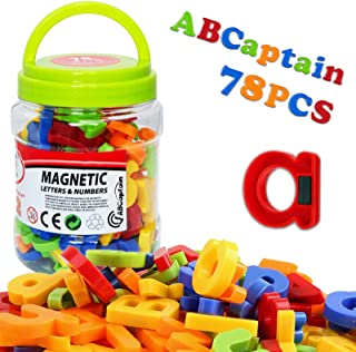 ABCaptain Magnetic Letters Numbers Alphabet Colorful Plastic ABC 123 Educational Toy Set Fridge Magnets Preschool Learning...