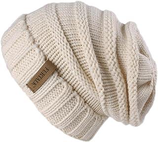 FURTALK Strickmütze Damen Slouch Beanie Mütze Street Style Grobstrick Wintermützen Klassische Weiche Beanie Winter