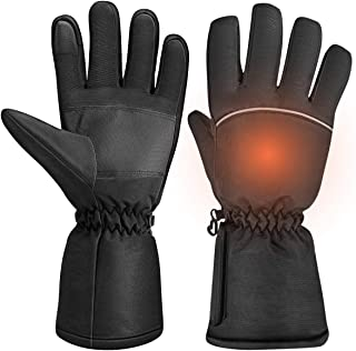 Clispeed Unisex Heated Gloves Touchscreen Warm Glove Hand Warmers for Winter Outdoor Camping Hiking Hunting
