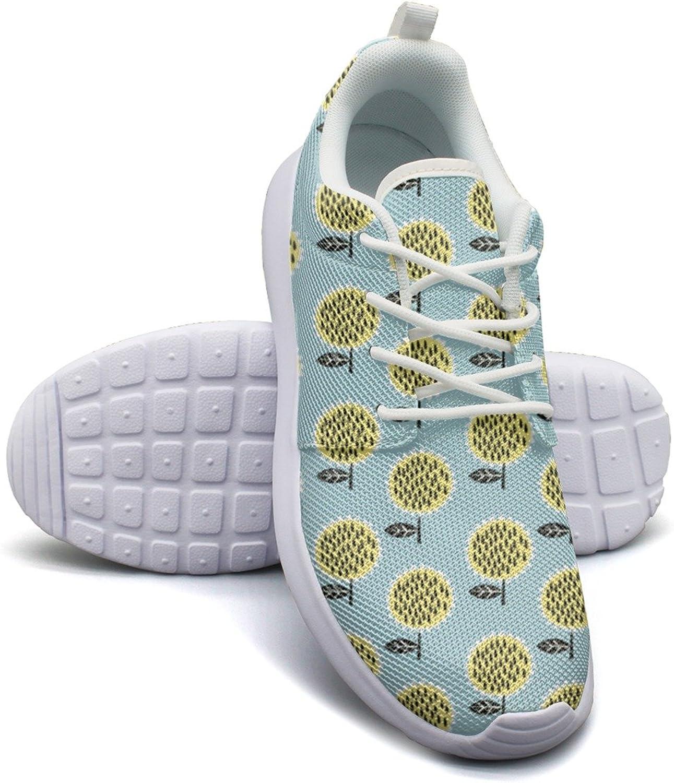 ERSER Tiny Sunflower Floral Running Tennis shoes for Women