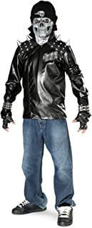Rubie's Metal Skull Biker Child Costume - Medium
