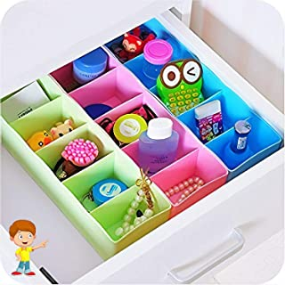 FLIPZON 3 Piece Multipurpose Storage Drawer Socks Undergarments Organizer, Plastic, Multicolor