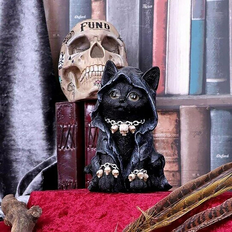 Silkrain Cat Figurine Feline Grim Cloaked Sales Fresno Mall De Reaper