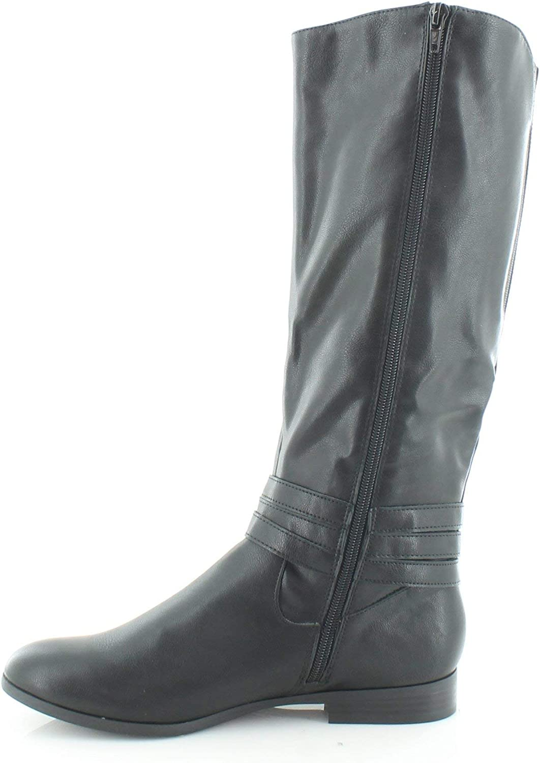 Style & Co. Womens Keppur Closed Toe Over Knee Riding, Dark Grey, Size 11.0