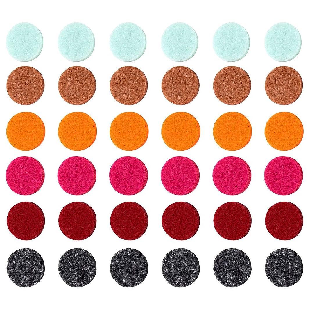バズこどもセンター露骨なZYsta 36個Refill Pads for Aromatherapy Essential Oil Diffuserロケットネックレス、交換用パッド: Thickened/洗濯可能/高吸水性のアロマディフューザーペンダント