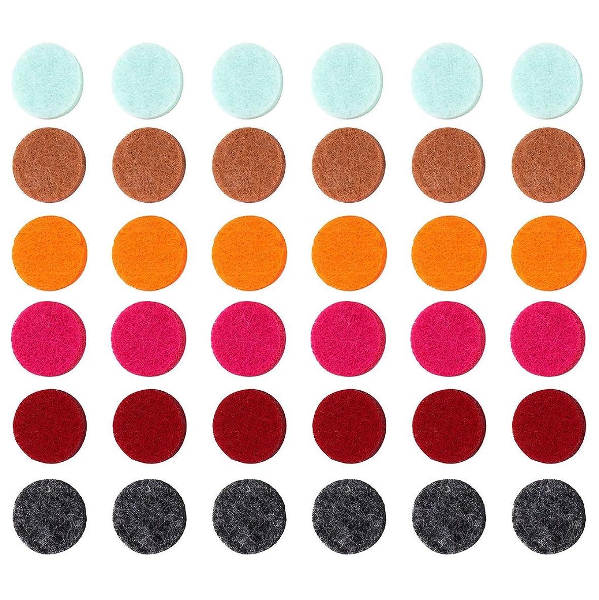 引き出す限界連帯ZYsta 36個Refill Pads for Aromatherapy Essential Oil Diffuserロケットネックレス、交換用パッド: Thickened/洗濯可能/高吸水性のアロマディフューザーペンダント