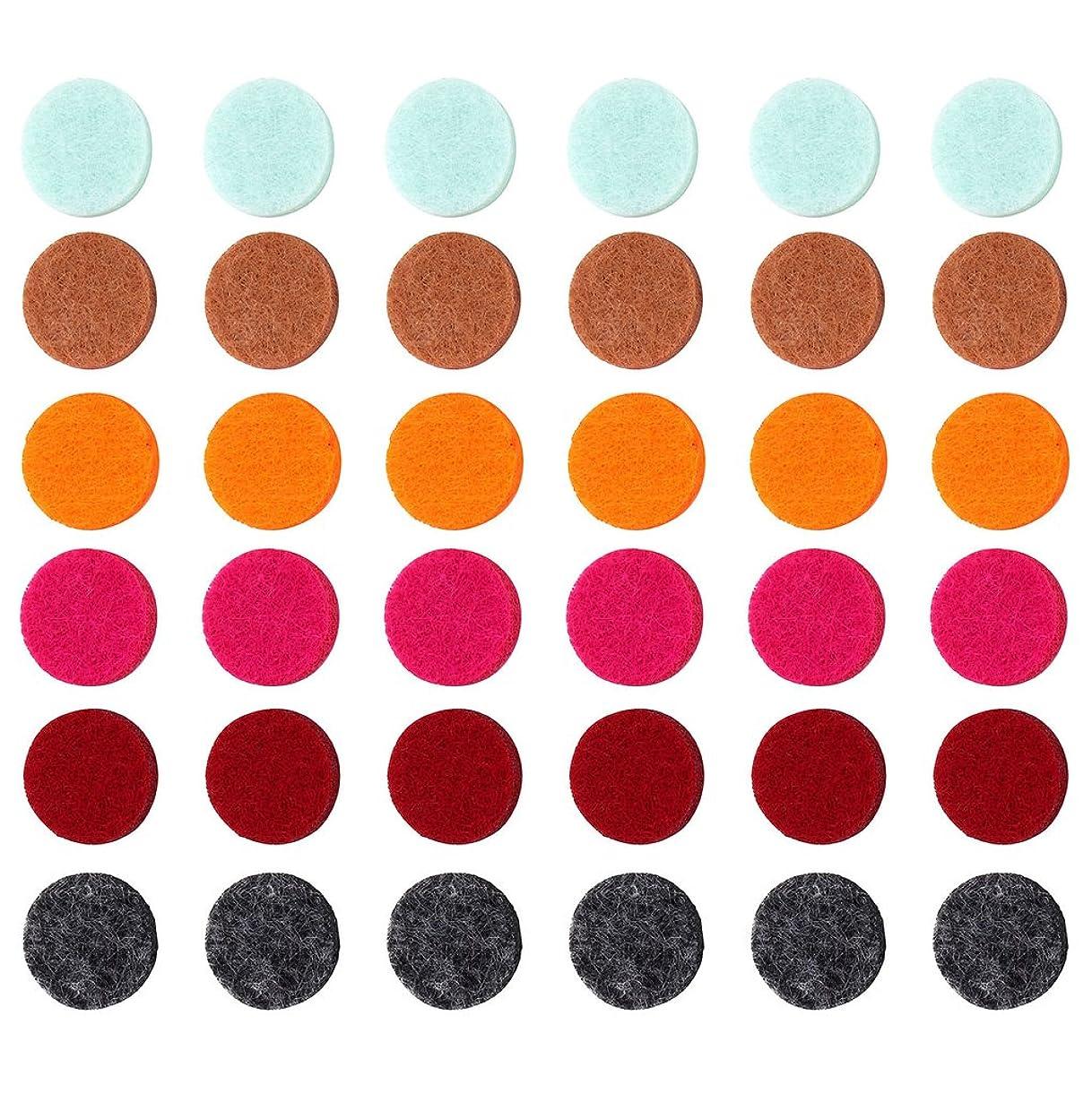 アルカイック衰えるマークされたZYsta 36個Refill Pads for Aromatherapy Essential Oil Diffuserロケットネックレス、交換用パッド: Thickened/洗濯可能/高吸水性のアロマディフューザーペンダント