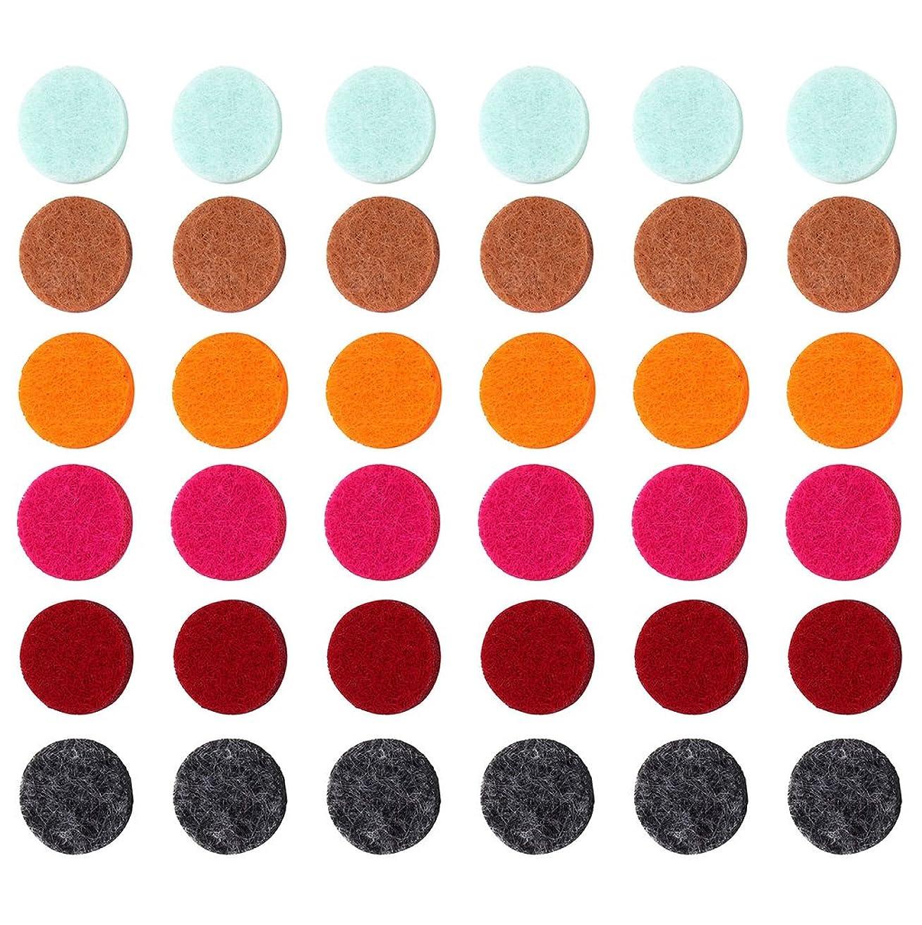 安全な構築する発言するZYsta 36個Refill Pads for Aromatherapy Essential Oil Diffuserロケットネックレス、交換用パッド: Thickened/洗濯可能/高吸水性のアロマディフューザーペンダント