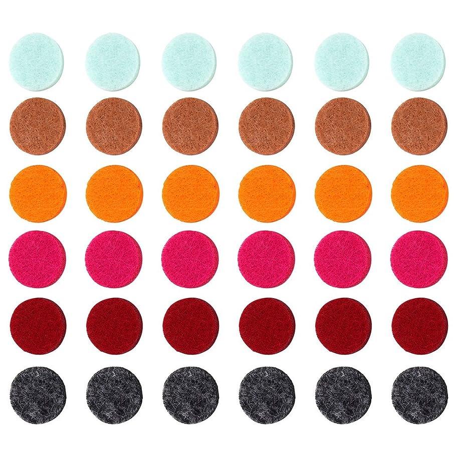 スポーツ深遠期待するZYsta 36個Refill Pads for Aromatherapy Essential Oil Diffuserロケットネックレス、交換用パッド: Thickened/洗濯可能/高吸水性のアロマディフューザーペンダント
