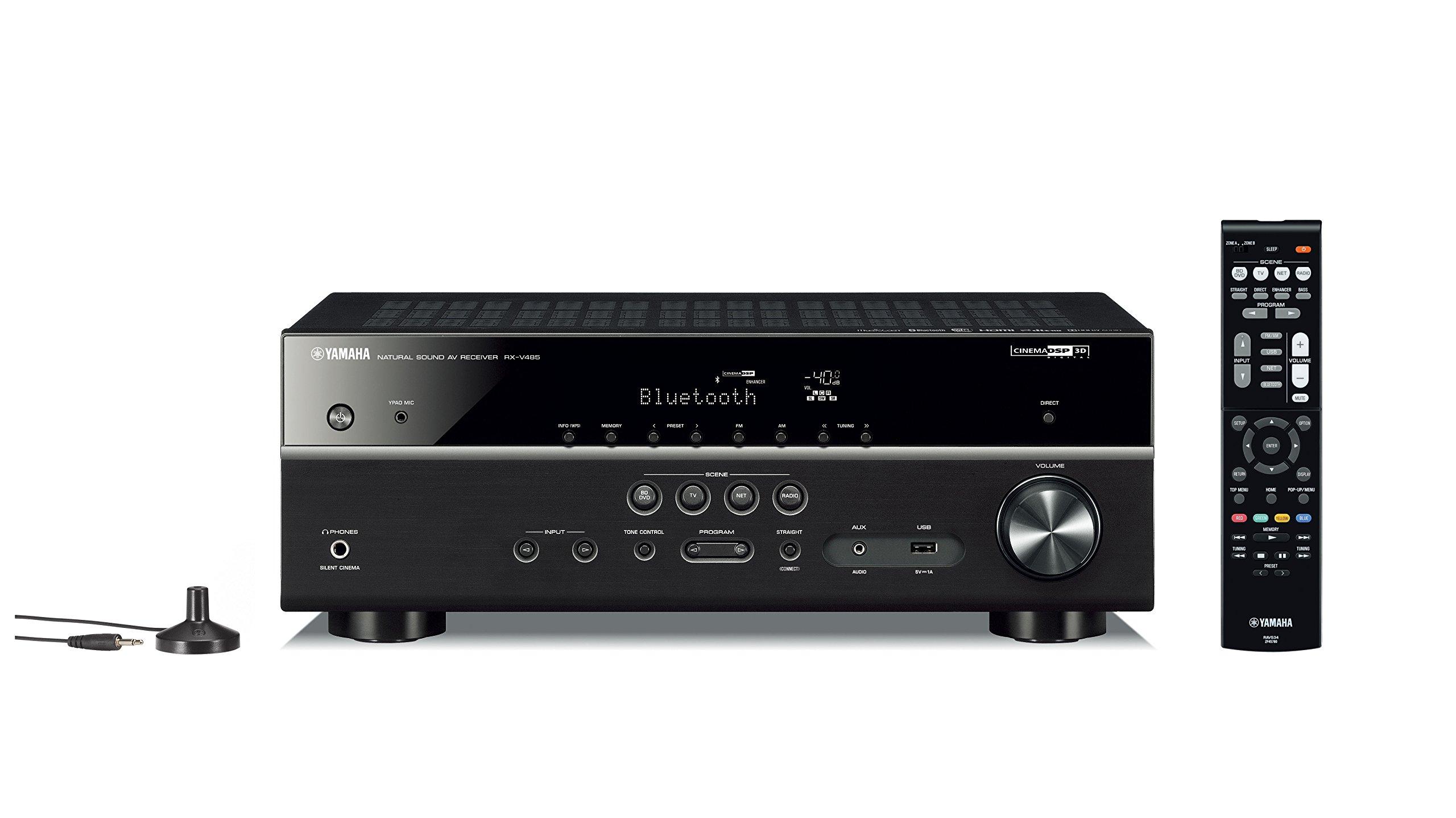 Yamaha RX V485BL 5 1 Channel Receiver MusicCast