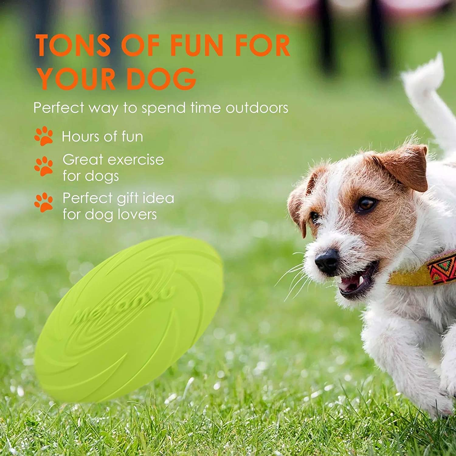 Lightweight Interactive Flying Toy for Fetch Tug of War Catch comfy Sroomcla Dog Indestructible Disc for Large Dogs Soft Rubber Frisbees for Training Heavy Duty Durable Freezbee for Pets