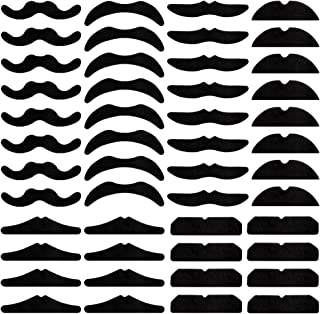 COCODE 48pcs Adhesive Fake Mustache Set for Costume and Festival Mexican Party