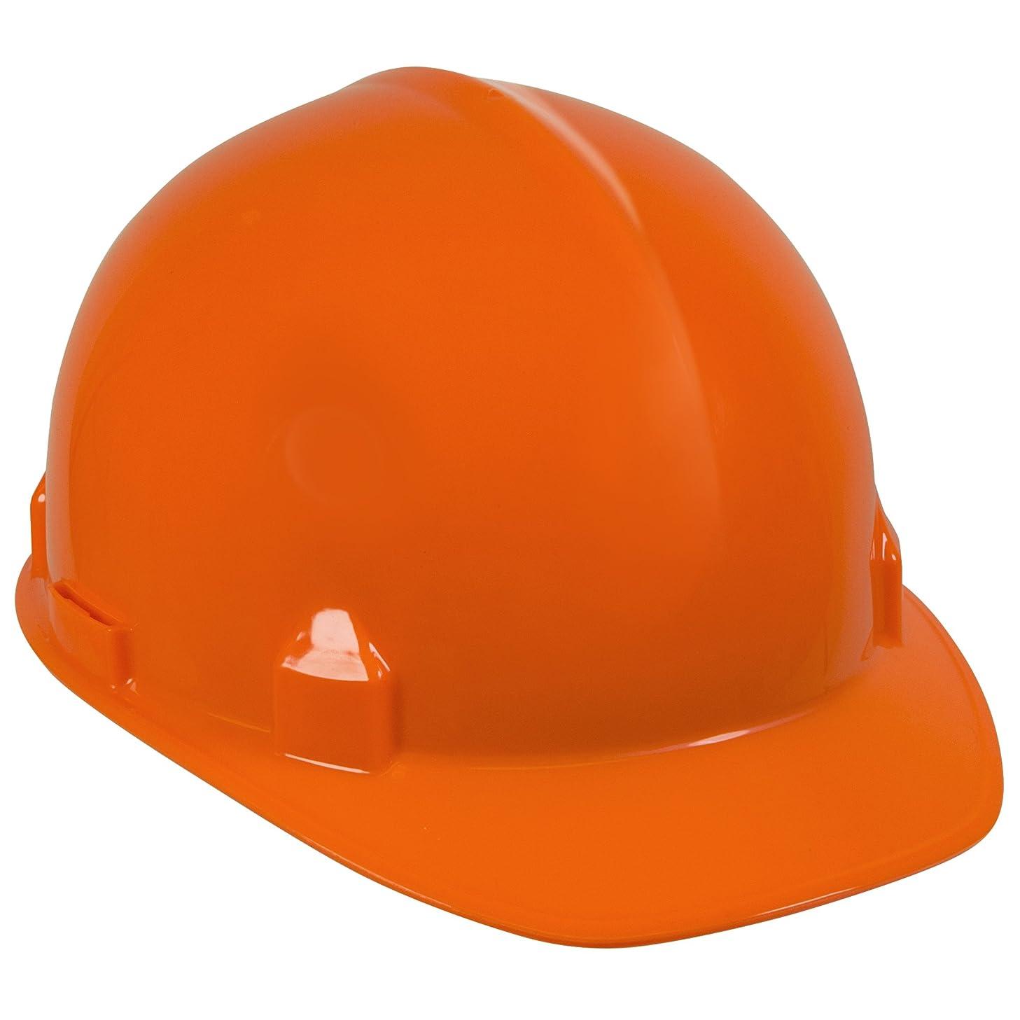 Jackson Safety SC-6 Hard Hat (14839), 4-Point Ratchet Suspension, Smooth Dome, Meets ANSI, Orange, 12 / Case