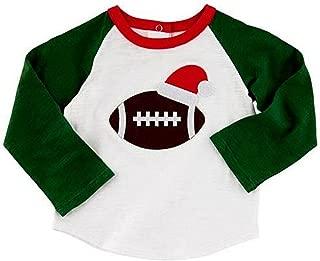 Mud Pie Baby Boys' Little Christmas Football T-Shirt