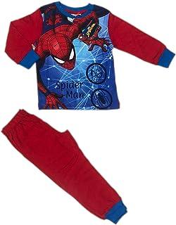 SUN CITY Pijama de Spiderman para niño | Pijama Marvel de algodón cálido | Ropa de invierno para niño | Camiseta Spider Ma...