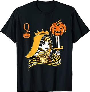 Halloween Queen of Hearts Pumpkin Deck Cards Costume Women T-Shirt