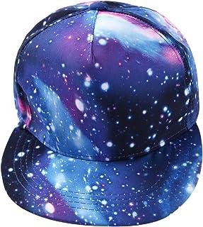 Misscat Hip-Hop Galaxy Printed Snapback Hat Flat Bill Adjustable Baseball Cap