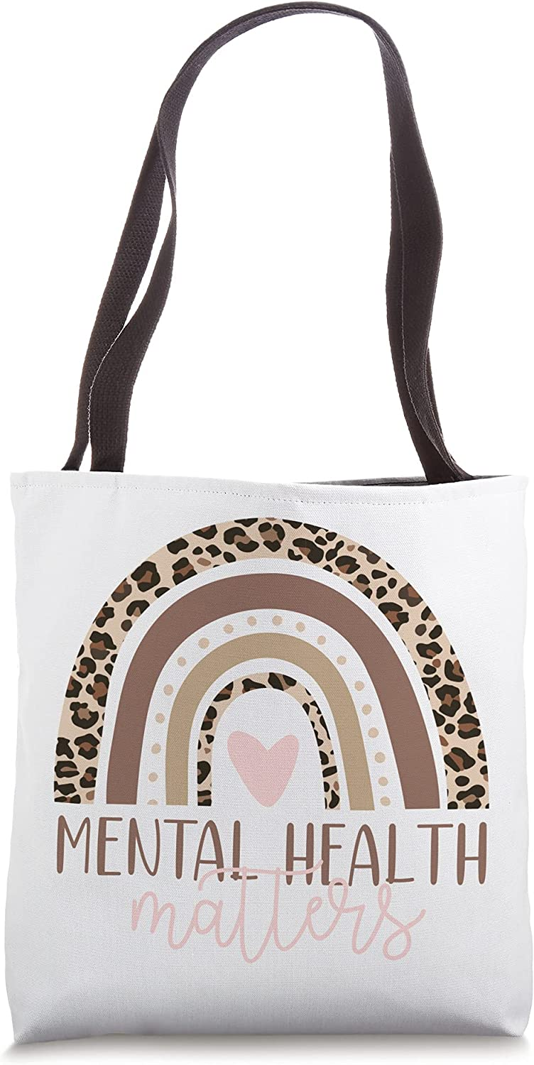 Mental Spring 1 year warranty new work one after another Health Matters End the Leopard Stigma Illness Tote