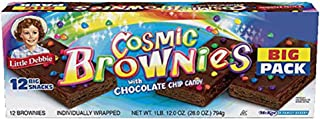 Little Debbie Cosmic Brownies with Chocolate Chip Candy Big Pack 28 Oz ( Pack of 3) by Little Debbie