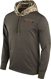Cincinnati Bengals Salute to Service Sideline Therma Hoodie Sweatshirt (Small)