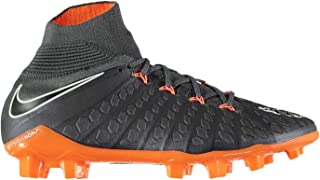 Official Brand Nike Hypervenom Phantom Elite DF Firm Ground Football Boots Juniors Grey Soccer