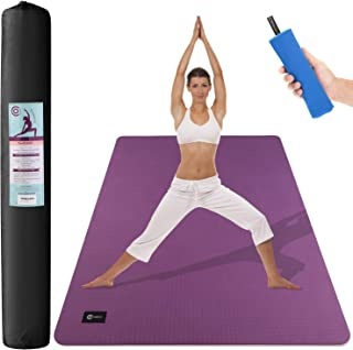 CAMBIVO Large Yoga Mat (6' x 4' x 6mm), Non-Slip Exercise...