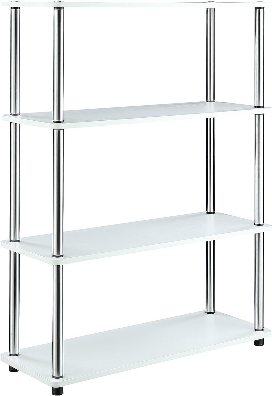 Convenience Concepts 131466W Designs2Go No Tools Bookcase, White