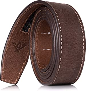 "SlideBelts Wide Full Grain Leather Ratchet Belt Strap (1.5"")"