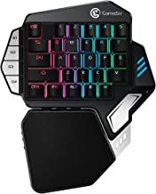 GameSir Z1 Mechanical Gaming Keyboard RGB Cherry MX Red Switches, Wireless Bluetooth Gaming Keypad for Windows PC One Handed Gaming Keyboard Detachable Wrist Rest