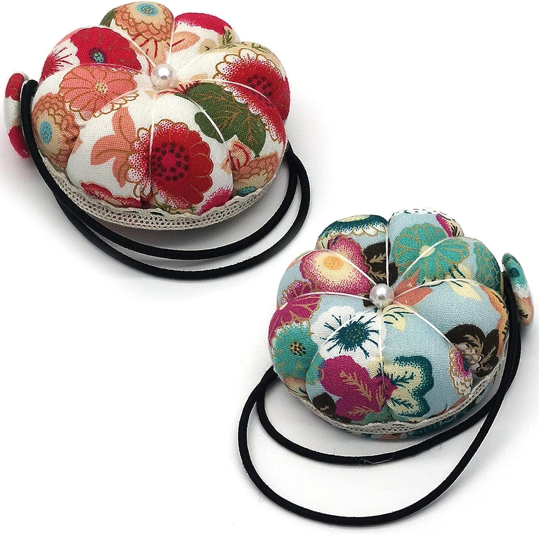 kiptyg Alfiletero de costura, Cojín de alfiler, Cojín de alfiler de aguja, suave y cómodo, adecuado para accesorios de máquinas de coser y uso manual de bricolaje (rojo + verde, 2 piezas)